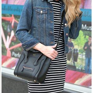 Gap Black and white striped midi dress!